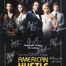signed AMERICAN HUSTLE Movie Poster by 13 members of the Cast