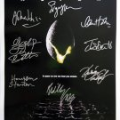 signed ALIEN Movie Poster by 8 members of the Cast