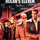signed OCEANS ELEVEN Movie Poster by 10 members of the Cast