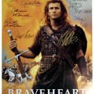 Signed BRAVEHEART Movie Poster by 11 members of the Cast