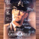 Signed THE GREEN MILE Movie Poster by 13 members of the Cast