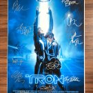 signed TRON LEGACY Movie Poster by 9 members of the Cast