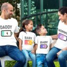 """Personalized family matching shirts """"Charging me up"""""""