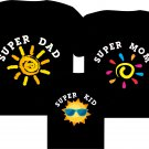 """Personalized family matching shirts """"Super family"""""""