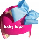 Buy 2 get 3rd free (1) handmade bows Aqua,Blue, Hot pink,Light pink,Light purple,