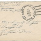 1947 United States Cover:  6c Air Post Stamped Envelope Revalued 5c