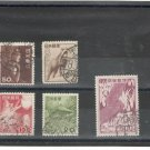(9) 1952-55 Japan Used Stamps