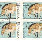 1978 Poland CTO Block: Warsaw Zoo Horses