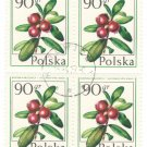 1977 Poland CTO Block: Forest Fruits