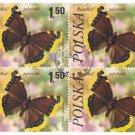 1977 Poland CTO Block: Butterflies