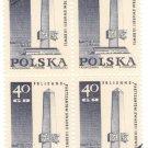 1968 Poland CTO Block: Memorials for the Sacrifices of World War II