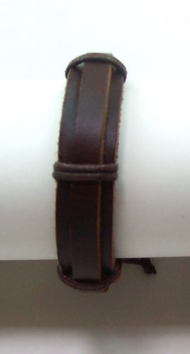 B006 New Unisex Horse Shoe Bondage Leather Bracelet