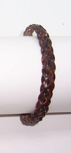 B004 Brown Leather Bracelet Adjustable Surfer Wristband