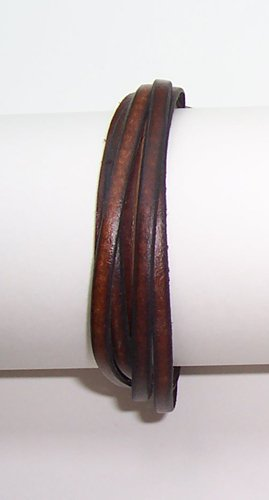 B001 NWOT Brown Leather Bracelet Surfer Wristband Unisex Free Shipping to North America