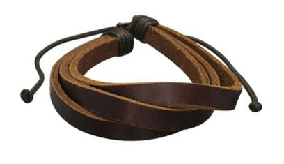 B023 Unisex New Brown clr Leather Bracelet Sufer Band