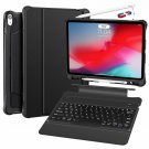 iPad Pro 12.9 Inch Case Ultra Slim PU Leather Shockproof Detachable Cover Black