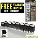 """8 PacK Black Cutting Guides #3171-500 1/8 to1"""" Fits All Full Size Wahl Clippers"""