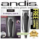 Andis SuperLiner Hair Trimmer 04890 Cut BONUS Ttitanium Foil Beard Shaver Head