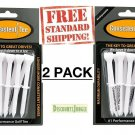 """2 Packs of 10 Consistent Tee 3 1/4"""" Durable, Biodegradable Golf Tees - 20 Tees!"""