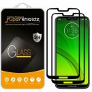 Motorola Moto G7 Full Screen Tempered Glass Screen Protector Bubble Free 2 Pack