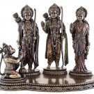 "Top Collection 10.5"" H 7.5"" H Rama, Sita and Lakshmana Worshipped by Hanuman Statue"