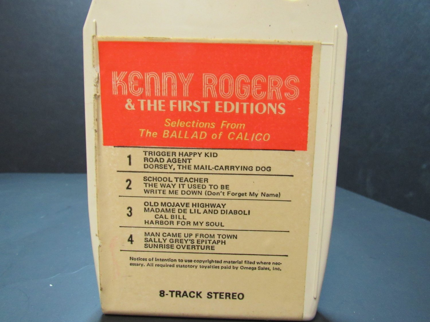 Kenny Rogers and the First Edition - 188 - 8 Track (E-1298)