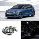 13×White error free Interior LED Light Kit for VW Polo 6 R(2013-2015)
