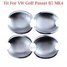 Set Chrome Door Handle Bowl Cover Cup Trim Fit For VW Passat B5 Golf MK4 Bora