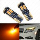 2 x Amber Error Free Eyebrow Eyelid Light LED 12SMD Bulbs T10 W5W 912 For W204
