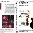 """GUITAR LEGENDS EXPO' Sevilla 1992 """" Blues Night"""" Dvd R"""