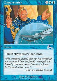 Magic the Gathering Card - Opportunity (Urza's Legacy)