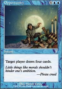 Magic the Gathering Card - Opportunity (Seventh Edition)