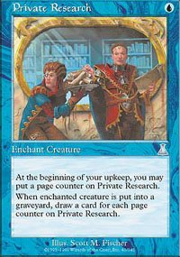 Magic the Gathering Card - Private Research (Urza's Destiny)