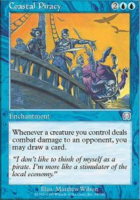 Magic the Gathering Card - Coastal Piracy (Mercadian Masques)