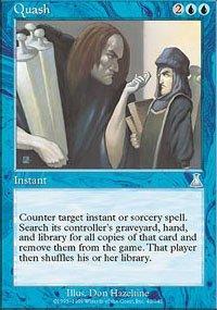 Magic the Gathering Card - Quash (Urza's Destiny)