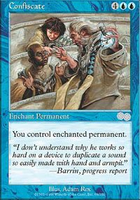 Magic the Gathering Card - Confiscate (Urza's Saga)