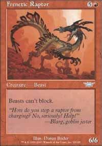 Magic the Gathering Card - Frenetic Raptor (Legions)