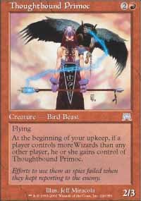 Magic the Gathering Card - Thoughtbound Primoc (Onslaught)