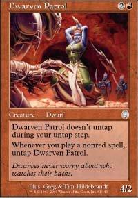 Magic the Gathering Card - Dwarven Patrol (Apocalypse)
