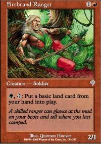 Magic the Gathering Card - Firebrand Ranger (Invasion)