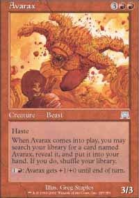 Magic the Gathering Card - Avarax (Onslaught)