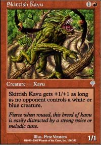 Magic the Gathering Card - Skittish Kavu (Invasion)