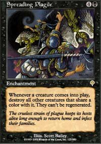 Magic the Gathering Card - Spreading Plague (Invasion)