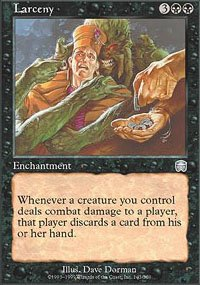 Magic the Gathering Card - Larceny (Mercadian Masques)