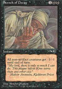Magic the Gathering Card - Stench of Decay (Alliances)