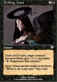 Magic the Gathering Card - Defiling Tears (Invasion)