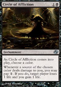 Magic the Gathering Card - Circle of Affliction (Planar Chaos)