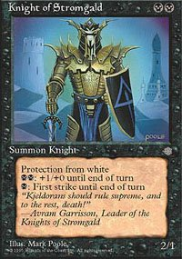 Magic the Gathering Card - Knight of Stromgald (Ice Age)