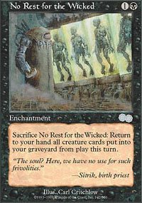 Magic the Gathering Card - No Rest for the Wicked (Urza's Saga)
