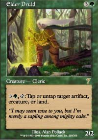 Magic the Gathering Card - Elder Druid (7th Edition)